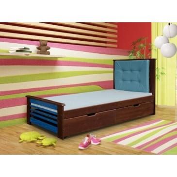 Dětská postel s úložným prostorem PAVLA, masiv borovice