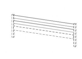 Zábrana boční - zadní KALIMERO-77, masiv smrk