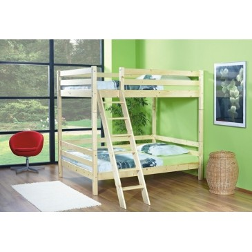 Poschoďová postel 140x200 KALIMERO-2062/R, masiv smrk