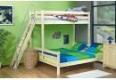 Poschoďová postel pro tři děti KALIMERO-2070/R, masiv smrk