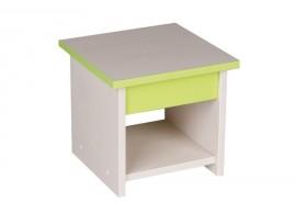 Dětská stolička CR127, zelená-bílá