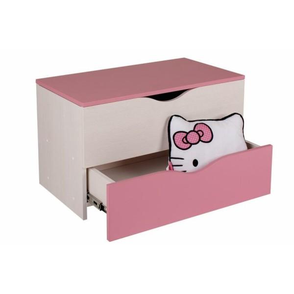 Krabice na hračky CR101, růžová-bílá