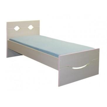 Dětská postel - jednolůžko CR108, růžová-bílá