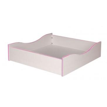Úložný prostor pod postel CR109, růžová-bílá