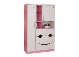 Dětská skříň velká CR124, růžová-bílá