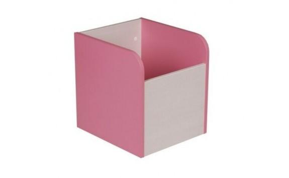 Box na hračky CR120, růžová-bílá