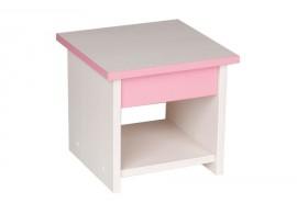 Dětská stolička CR127, růžová-bílá