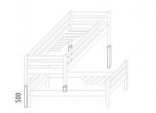 Dětská zvýšená postel - elko posuvné (zvyšující prvky) D937d-Domino