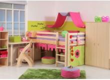 Zvýšená postel - jednolůžko 140x200 DOMINO D938, masiv smrk