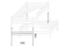 Dětská postel - palanda elko (zvyšující prvky) D956d-Domino