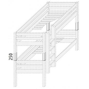 Palanda nízká (zvyšující prvky) D856d-Domino