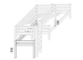 Palanda posuvná nízká (zvyšující prvky) D860d-Domino