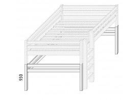 Palanda - horní spaní 140x200 nízká (zvyšující prvky) D861d-Domino
