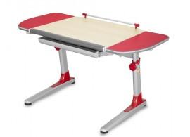 Rostoucí psací stůl PROFI, javor - červená