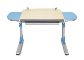 Rostoucí psací stůl PROFI, javor - modrá