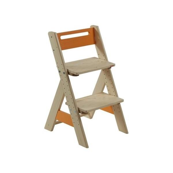 Dětská rostoucí židle ZUZU J0565D, oranžová