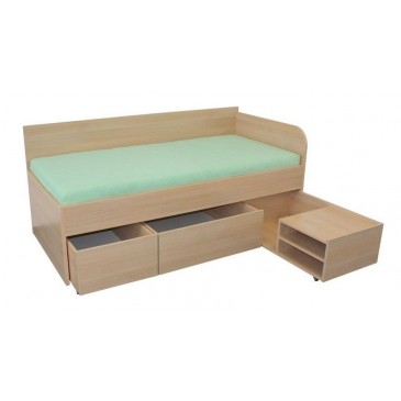 Zvýšená dětská postel s úložným prostorem 90x200 INA