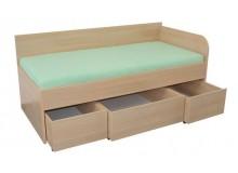 Zvýšená dětská postel s úložným prostorem 90x200 EMA