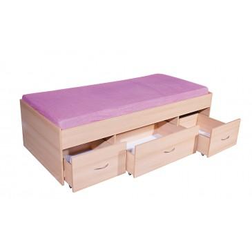 Zvýšená dětská postel s úložným prostorem 90x200 BETA