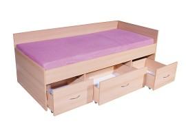 Zvýšená dětská postel s úložným prostorem 90x200 GAMA