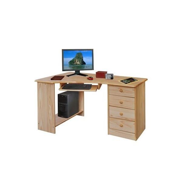 Rohový psací PC stůl z masivu borovice IA8846