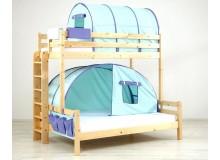 Poschoďová postel pro 2 děti KALIMERO-320A/SZM, masiv smrk