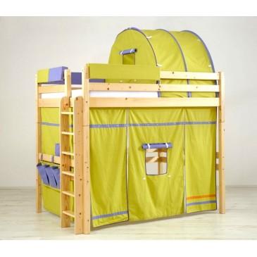 Patrová postel - horní spaní KALIMERO-342/ZM, masiv smrk