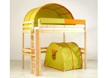 Patrová postel - horní spaní KALIMERO-342A/ZO, masiv smrk