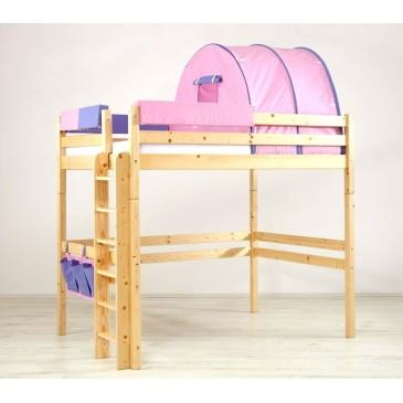 Patrová postel - horní spaní KALIMERO-342B/RM, masiv smrk