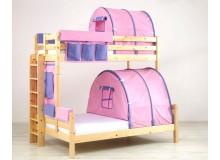 Poschoďová postel pro dvě děti KALIMERO-320B/RM, masiv smrk