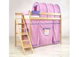 Patrová postel - horní spaní 90x200 K75/RM - PEDRO, masiv smrk