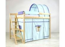 Patrová postel - horní spaní 140x200 K36/SZM - PEDRO, masiv smrk