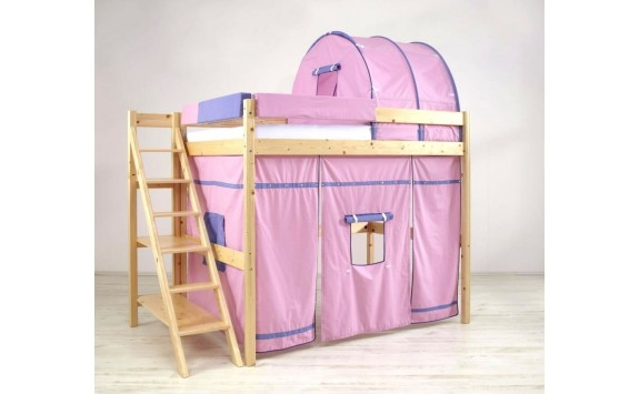 Patrová postel - horní spaní 140x200 K36/RM - PEDRO, masiv smrk