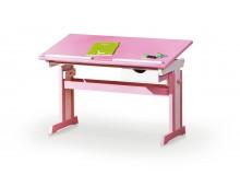 Rostoucí psací stůl CELIA, bílá-růžová