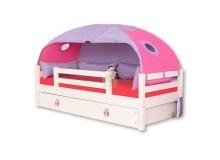 Dětská postel - jednolůžko DOMINO D901 - RF, masiv smrk - bílá