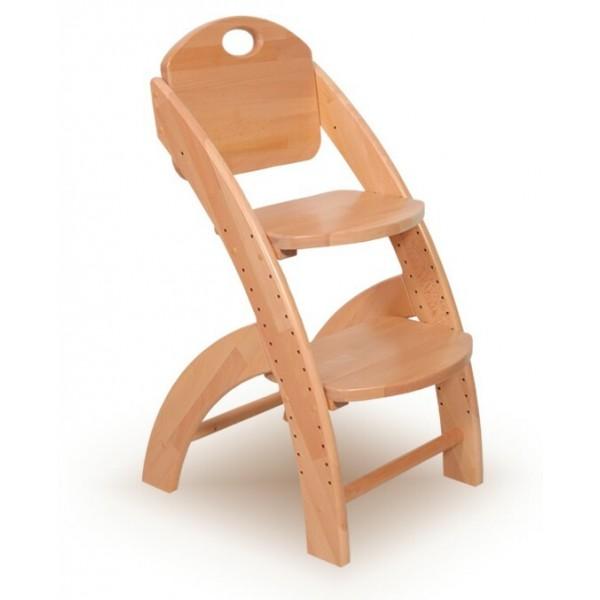 Dřevěná dětská rostoucí židle KLÁRA č.407/1/BC-KLASIC, masiv buk