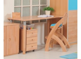 Rostoucí psací stůl MINI D727/BC - Domino, masiv buk