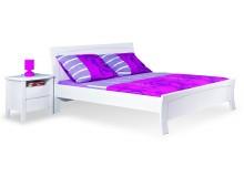 Bílá postel z masivu - dvojlůžko NATÁLIE, 160x200, 180x200, jasan