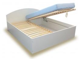 Manželská postel s úložným prostorem, čelní výklop BEN 160x200, 180x200