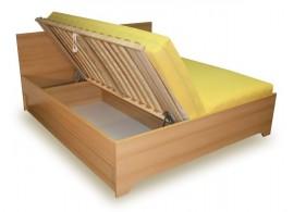 Manželská postel s úložným prostorem, boční výklop HUGO 160x200, 180x200