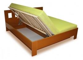 Manželská postel s úložným prostorem, boční výklop MALAGA 160x200, 180x200