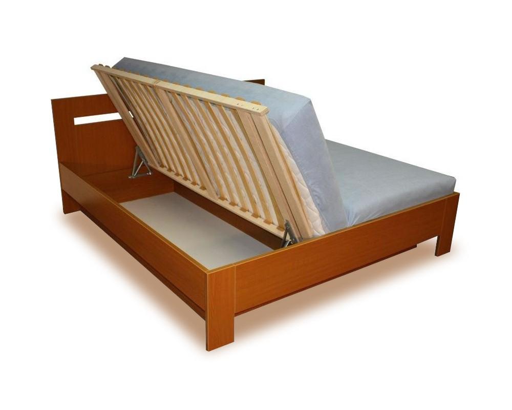 Manželská postel s úložným prostorem, boční výklop LINDA 160x200, 180x200