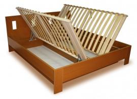 Manželská postel s úložným prostorem, boční výklop DITA 160x200, 180x200