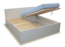 Manželská postel s úložným prostorem, čelní výklop HUGO 160x200, 180x200