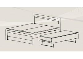 Přistýlka Line-lamino, výklopná, 80x200