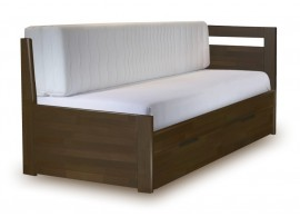 Rozkládací postel s úložným prostorem TANDEM KLASIK pravá 90x200, buk