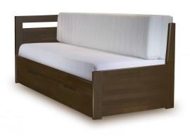 Rozkládací postel s úložným prostorem TANDEM KLASIK levá 90x200, buk