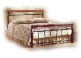 Manželská postel dvoulůžko CS4013, dřevo-kov, 160x200, 180x200