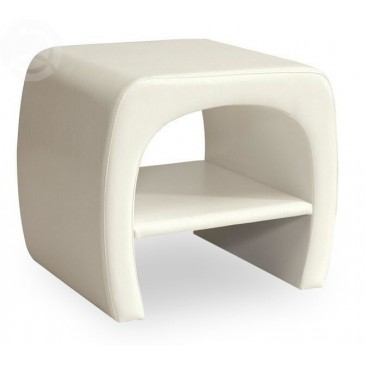 Moderní čalouněný noční stolek CS4278, bílý