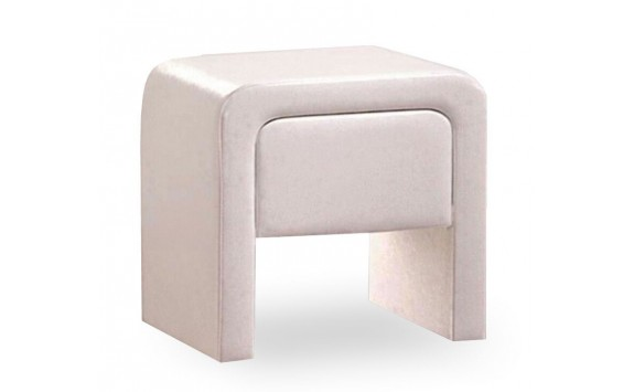 Moderní čalouněný noční stolek CS4012, bílý